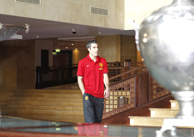 Robin van Persie, who fell into a cameraman pit