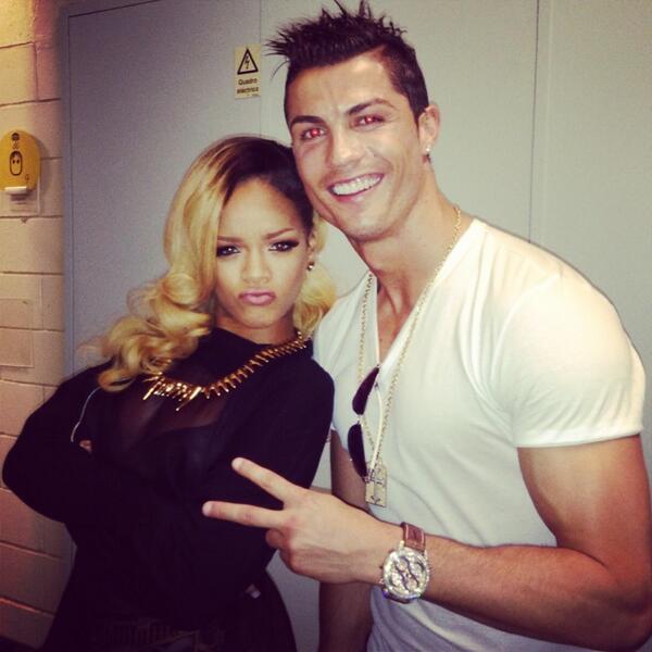 Cristiano Ronaldo and Rihanna