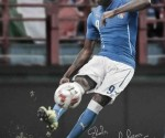 Mario Balotelli's personally addressed Puma #ForeverFaster tweeted autograph photo for Ebola