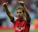 Mathieu Flamini missed his customary booking