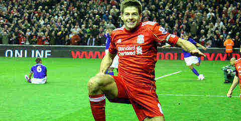 Steven Gerrard, author of the Steven Gerrard stamp