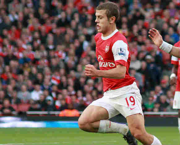 Jack Wilshere injured himself posing for this photograph