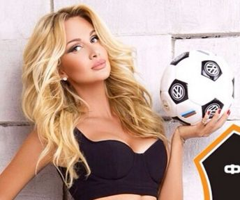 One of the photos of Miss Russia 2003 and World Cup 2018 official ambassador Victoria Lopyreva