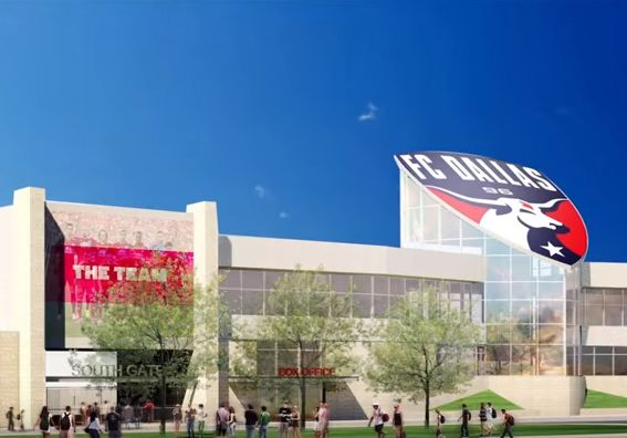 A clip from the promotional video for the FC Dallas stadium expansion