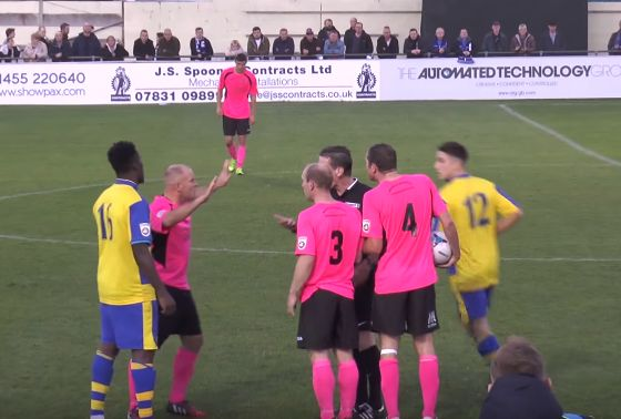 Stockport substitute sent off before play resumes in their match against Solihull Moors