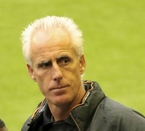 Mick McCarthy sings, but not terribly well