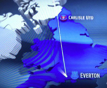 Everton on the south coast, according to Fox Sports