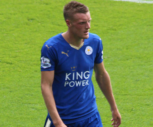 A Jamie Vardy wonder goal made one Leicester fan lose his teeth