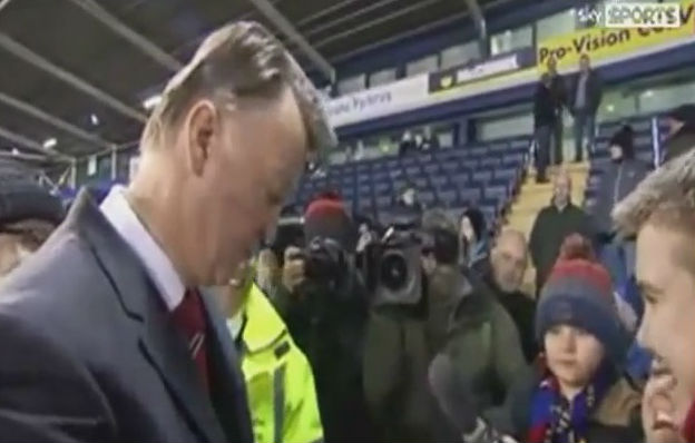 Louis van Gaal jokes about getting sacked to fan who wishes him good luck