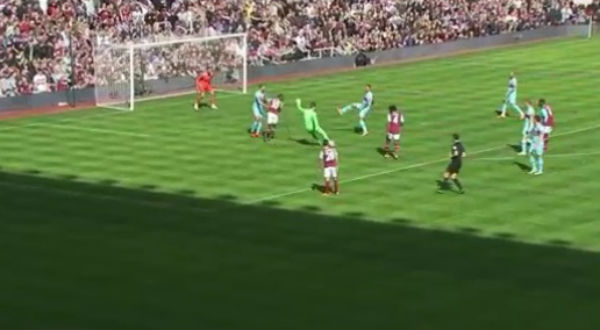 West Ham goalkeeper Adrián ran the length of the pitch to score in Mark Noble's testimonial