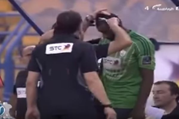 Player has haircut before game in Saudi Arabia after the hairstyle was deemed to be anti-Islamic