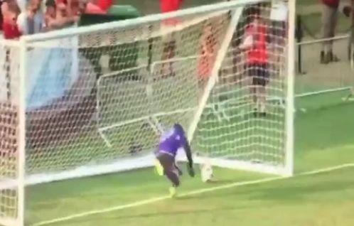 Goalkeeper Sammy Ndjock scores Minnesota United own goal against Bournemouth in a pre-season friendly
