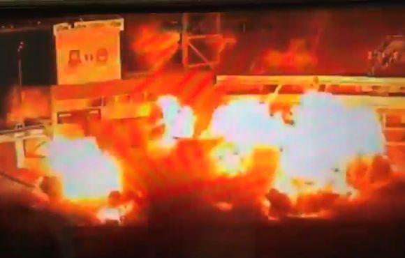 West Ham's former stadium Upton Park blown up for film scene