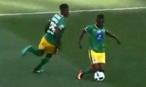 This player was booked for showboating