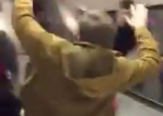 Sheffield United fan slides down escalator at Tube station before Charlton clash