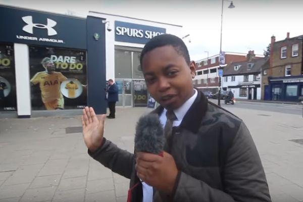 Child reviews chicken shop on White Hart Lane