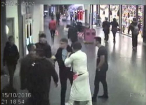 A father and son dressed as Princess Leia and Chewbacca fight Manchester City fan at Piccadilly train station
