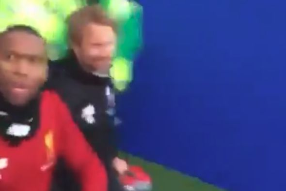 "Daniel Sturridge coming out of the tunnel at Brighton before he refused to high-five some Liverpool fans and being told ""we pay your wages"""