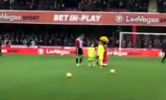 Groom is Brentford mascot on his stag do