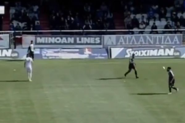 Cameraman follows wrong ball and misses goal in Greek match