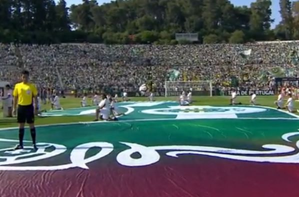 Floating football at Portuguese Cup final