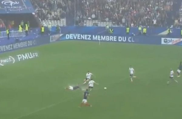 Waterlogged pitch holds up France counter-attack