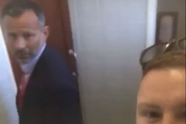 Ryan Giggs asks fan to stop filming him in the loo