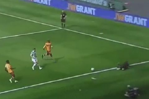 Assistant referee falls over ball in Scottish Cup final as Celtic beat Motherwell 2-0