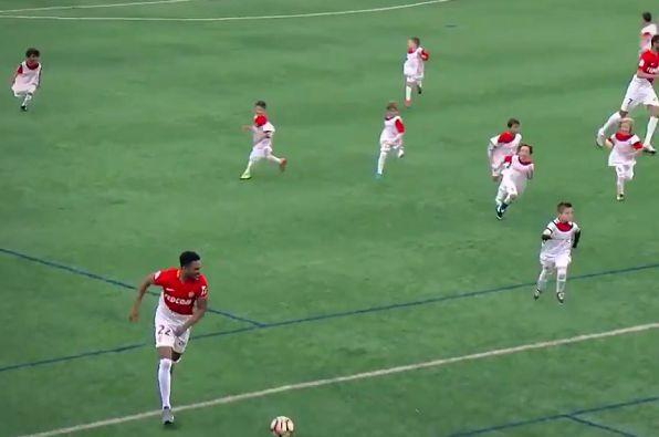 Five Monaco players take on 55 kids