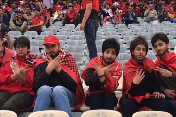 Six women dress as man to watch Persepolis FC