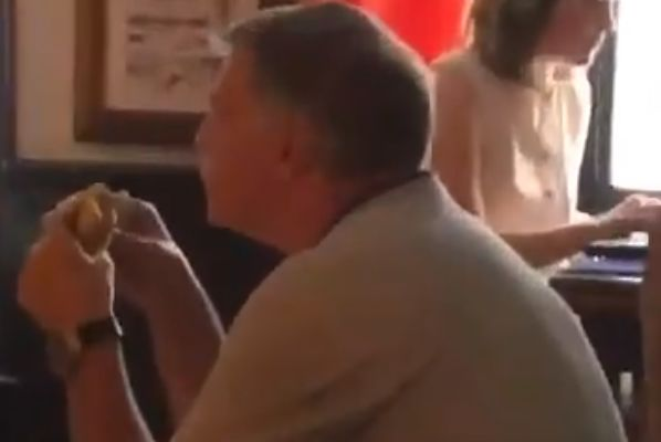 Sam Allardyce eats burger while watching England v Panama alone in pub