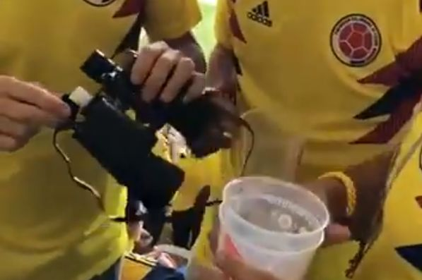 Colombia fans bring alcohol to stadium inside fake binoculars