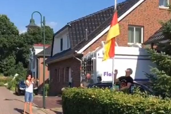 Germany fans mourn World Cup exit with military funeral customs