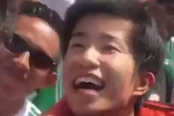 Mexico fans stage parade for young South Korean after win over Germany