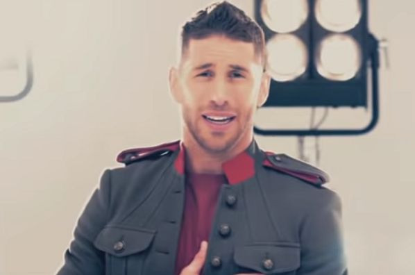 Spain's Sergio Ramos performs his World Cup song