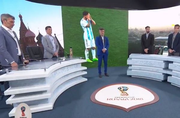 Argentinian channel TyC Sports holds moment of silence after Croatia defeat