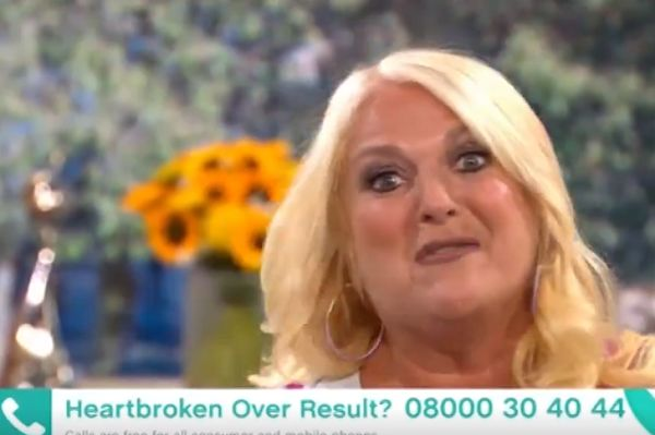 Vanessa Feltz takes calls from distressed England fans on This Morning following the World Cup semi-final defeat to Croatia