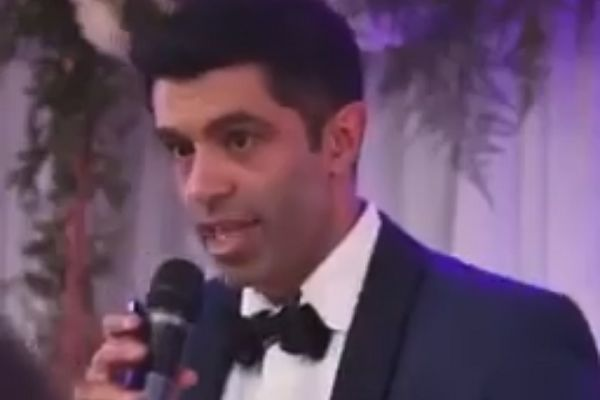 A groom used his wedding speech to toast Gareth Southgate, England manager, instead of his wife