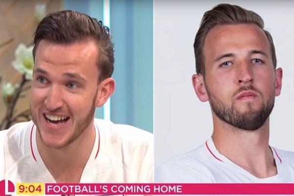 Harry Kane lookalike on Lorraine, ITV morning show