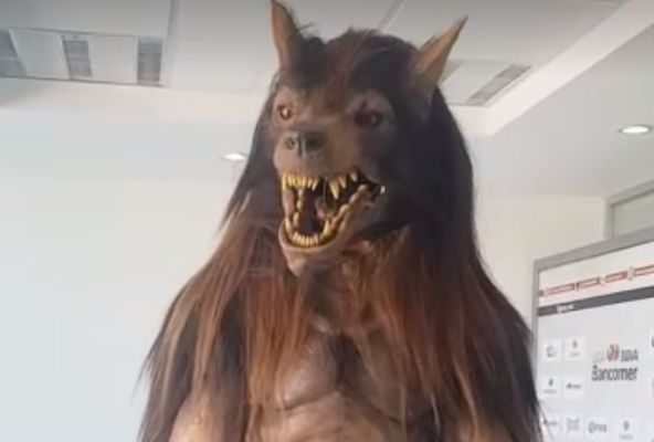 Lobos BUAP's werewolf mascot for the 2018-19 Liga MX season