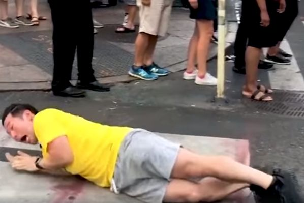 Vine comedian QPark rolls around like Neymar in public for a video