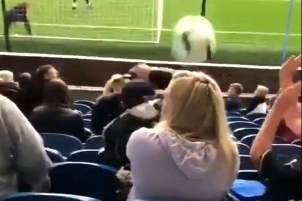 Burnley fan gets hit in the head with a ball before Europa League win over İstanbul Başakşehir F.K.