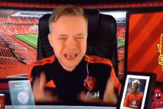 Man Utd YouTuber Mark Goldbridge as Phil Jones misses a penalty against Derby in the Carabao Cup
