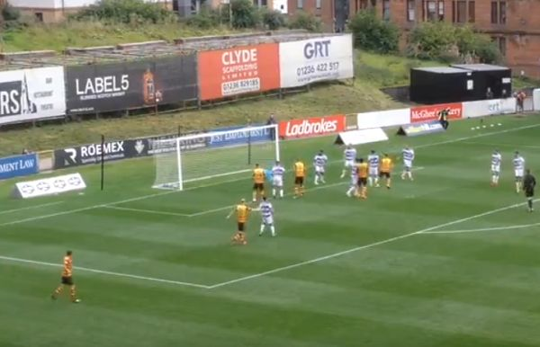 Partick Thistle goal that was disallowed for not crossing line despite hitting net