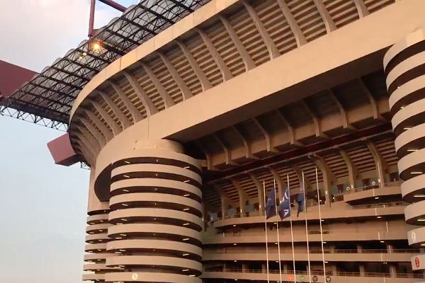Inter Milan fans sang along to the Champions League anthem at the San Siro ahead of match against Spurs