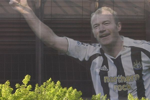 A Newcastle fan has a big tattoo of Alan Shearer on his back