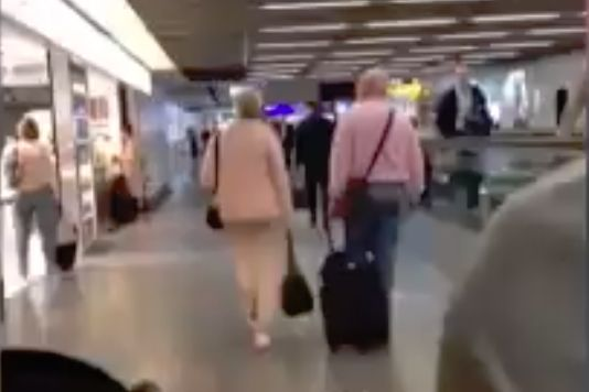 Bulgaria Under-21 players drive around Frankfurt Airport and shout at fellow passengers