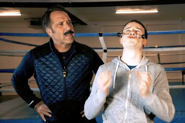 David Seaman shows Sean from The Sun how to grow a moustache for Movember