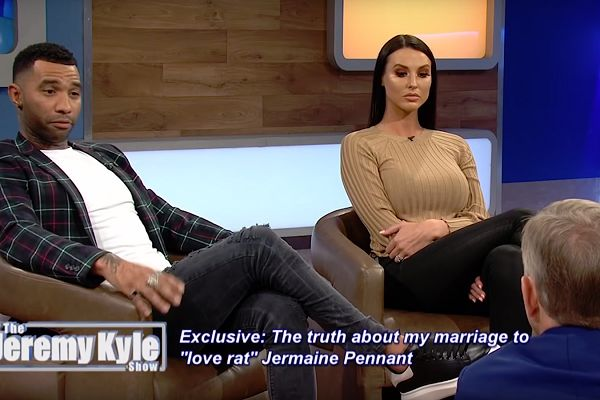 Jermaine Pennant on The Jeremy Kyle Show with his wife