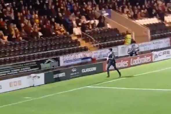 Motherwell pitch invader at St Mirren